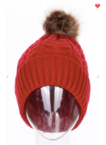 Pompom Crotchet Beanies (Available in 6 Different Colors!)