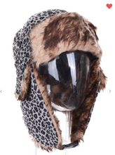 Load image into Gallery viewer, Leopard Trapper Hat W/ Fur Lining (Available in Three Colors!)