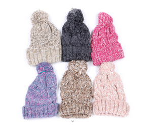 Minky Pompom Crochet Beanies (Available in 6 Colors!)