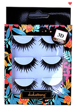 Load image into Gallery viewer, Glamorous 3-Pair 3D Faux Eyelash Set