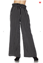 Load image into Gallery viewer, New Mix Vertical Stripe Soft Pants Black/White (Available in Sizes S-L)