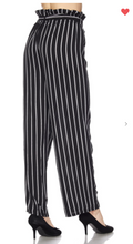Load image into Gallery viewer, New Mix Vertical Stripe Soft Pants Black/White (Available in Sizes 1XL-3XL)