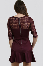Load image into Gallery viewer, Yuni Apparel Lace Burgundy Dress