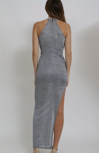 "Xtaran ""Came to SLAY"" Crossed Front W/ Slit Dress (2 Colors)"