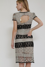 Load image into Gallery viewer, A'reve Lace Short Sleeved Dress Black