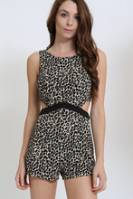 Load image into Gallery viewer, Depri Leopard Print Romper W/ Side Cut Out's