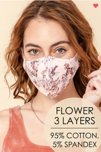 Cotton Washable & Comfy Face Masks (6 Colors!)