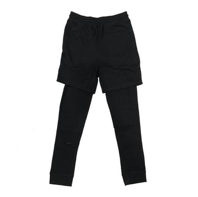Boy's Black Athletic Shorts/ Runner Leggings (S-XL).