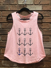 Load image into Gallery viewer, Vivilish Anchor Muscle Tank Top Pink