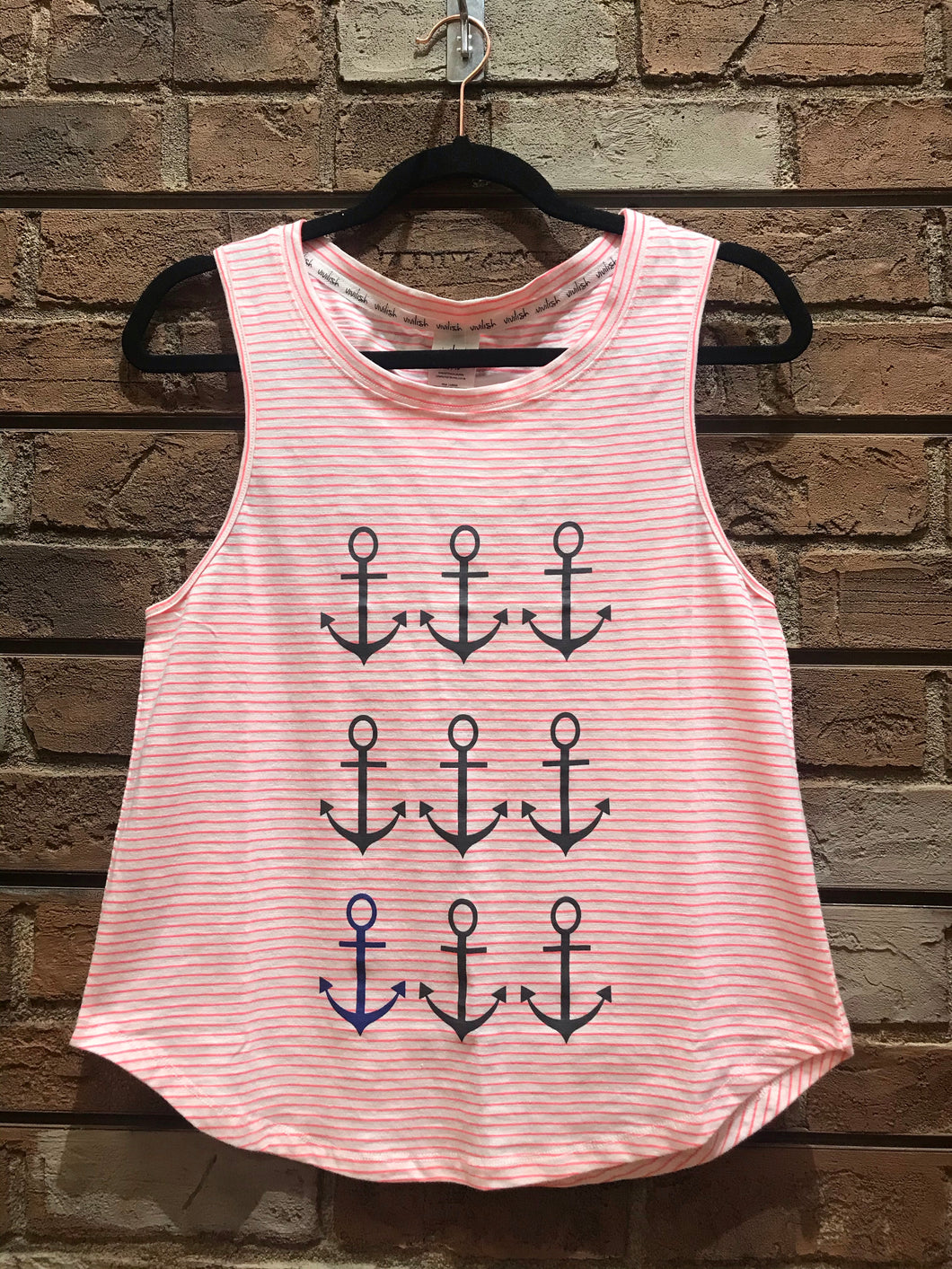 Vivilish Anchor Muscle Tank Top Pink