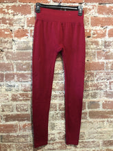 Load image into Gallery viewer, New Mix Premium Fleece Legging Burgundy