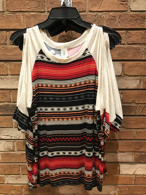 Her. Clothing Boho Open Shoulder Native Top (Size S-L)