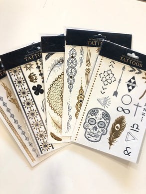 Metallic Temporary Tattoo (Assorted Designs)
