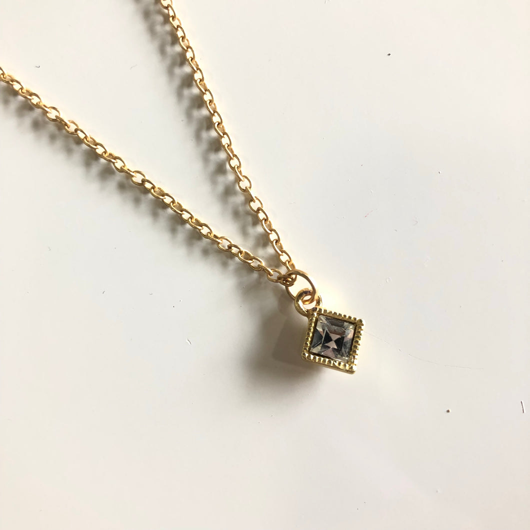 Delicate Crystal Pendant Necklace