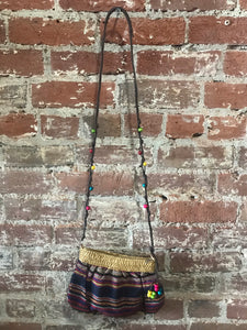 Beaded Aztec Print Crossbody