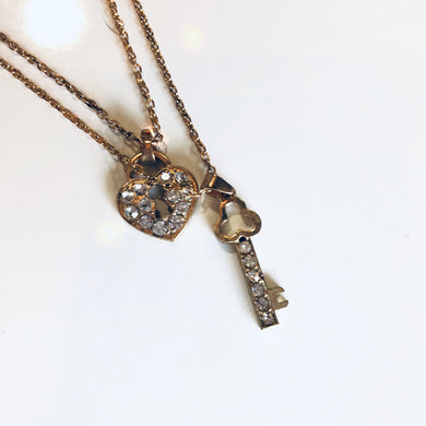 Superstar Key & Heart Necklace