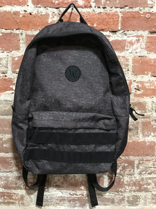 Hurley Black & Grey Backpack