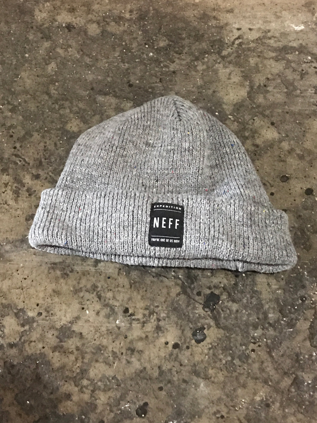 Neff Grey & Rainbow Speckled Beanie