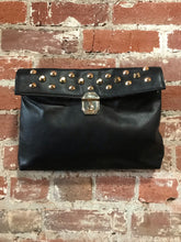 Load image into Gallery viewer, Large Leather Crossbody W/ Studded Flap