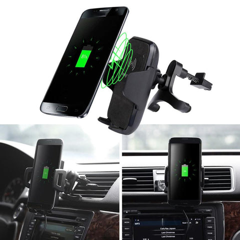 Car-charger, Wireless Charger Vehicle Dock USB Charger for Samsung Galaxy S8 / S8