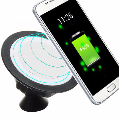 Universal Qi Wireless Charger Pad Dock 360 Rotating Mount Car Holder Charging Pad