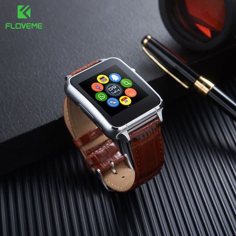 Smart Watch, Android, SIM Card, Leather Wristband