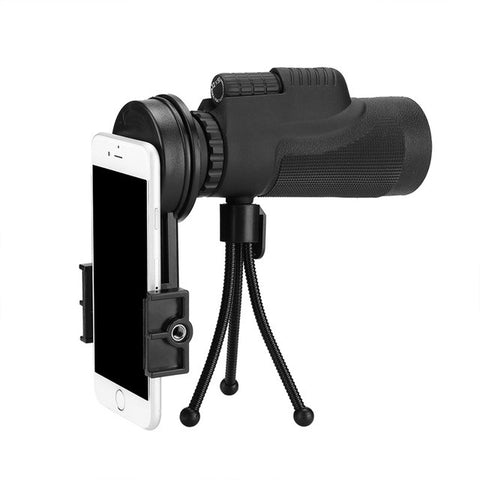 Mini Style 10XHD Phone Telescope Lens with Tripod Phone Clip