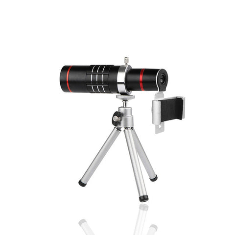 Universal 18X Zoom Telescope Phone Camera Lens with Tripod Clip