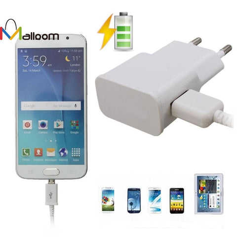 High Quality Micro USB Cable Wall Charger Adapter EU Plug For Samsung Galaxy