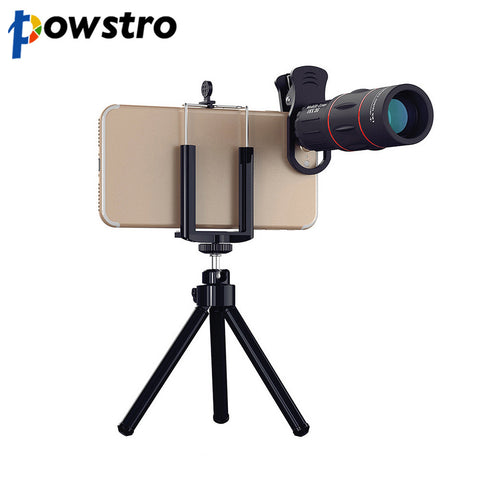 18X 1000m/3280ft Zoom Telescope Phone Camera Lens with Tripod Clip