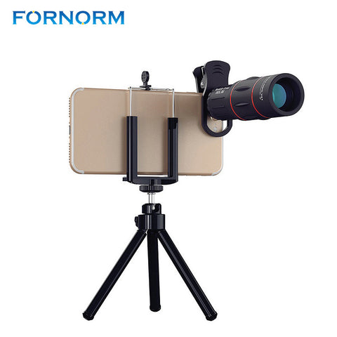 18X Mobile Phone Optical Zoom Telescope Lens + Tripod for iPhone, Samsung, iPad