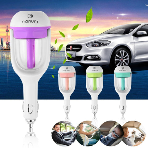 Car Diffuser Portable Mini Car Aromatherapy Humidifier Air Purifier Essential Oil Diffusers
