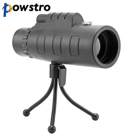 Universal 10X HD Optical Monocular Telescope Phone Lens with Phone Clip & Tripod