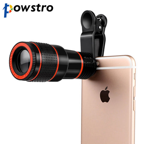 Universal 12X Zoom Telescope Phone Camera Lens with Clip