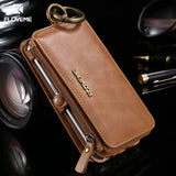 Samsung 5, 6, 7, 8 - Leather Phone Case, With Card Pocket, Kickstand