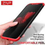 iPhone - Luxury 360 Degree Full Protection Case, With Tempered Glass Cover