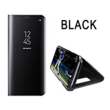 Samsung 5, 6, 7, 8 - Clear View Smart Leather, Flip Stand, Mirror Case