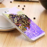 iPhone 5, 6, 7, 8 Blue Ray Patterned Case, Soft Silicone Back Cover