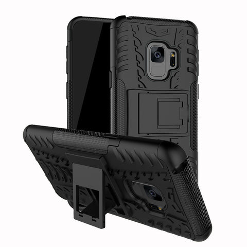 Galaxy S9 - Shockproof Heavy Duty Stand Case