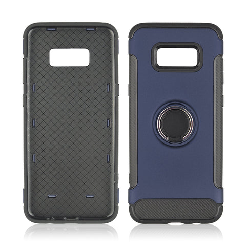 Samsung Galaxy S8 Plus - Hard PC Cover, 360 Rotate Ring Holder, Shockproof