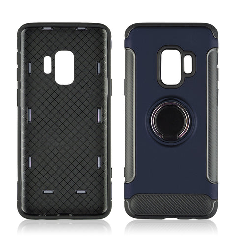 Hard PC Phone Cover 360 Rotate Ring Holder Phone Back Case Shockproof for Samsung Galaxy S8 S9 Plus