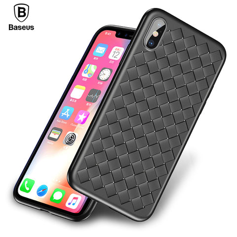 iPhone X, Weave Case, Luxury Ultra Thin Slim Back Cover