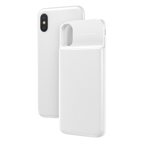 iPhone 8, X and Samsung 7, 8, 9  5000mAh QI Wireless Charger Case