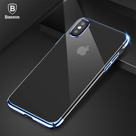 iPhone X,  Luxury Plating Case, Ultra Thin Electroplating Hard PC Back Cover