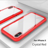 Transparent Tempered Glass for iPhone, Soft Back Cover
