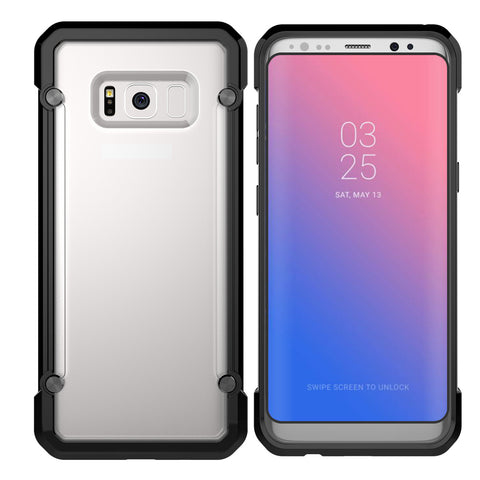 Samsung Galaxy S8 - Hard PC Back, Soft TPU Border Protective Shell