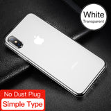 iPhone X,  Dirt-resistant Case, Ultra Thin Clear Soft Silicone Cover, Transparent