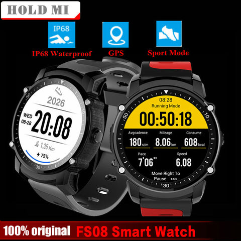 Smart Watch, Waterproof, GPS Sports Fitness Tracker, for Android, IOS