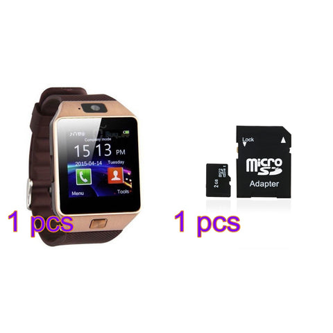 Bluetooth Smart Watch DZ09, GSM,  SIM Card With Camera for Android IOS