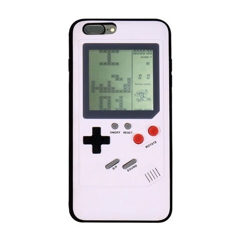 iPhone 6, 7, 8, X,  Game Boy Console, Silicone Cover Case